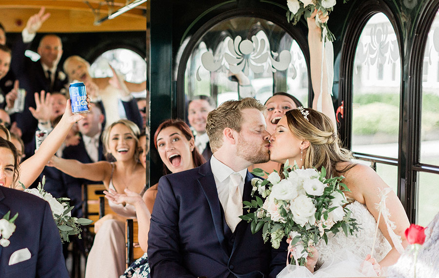 bridal-party-on-trolley